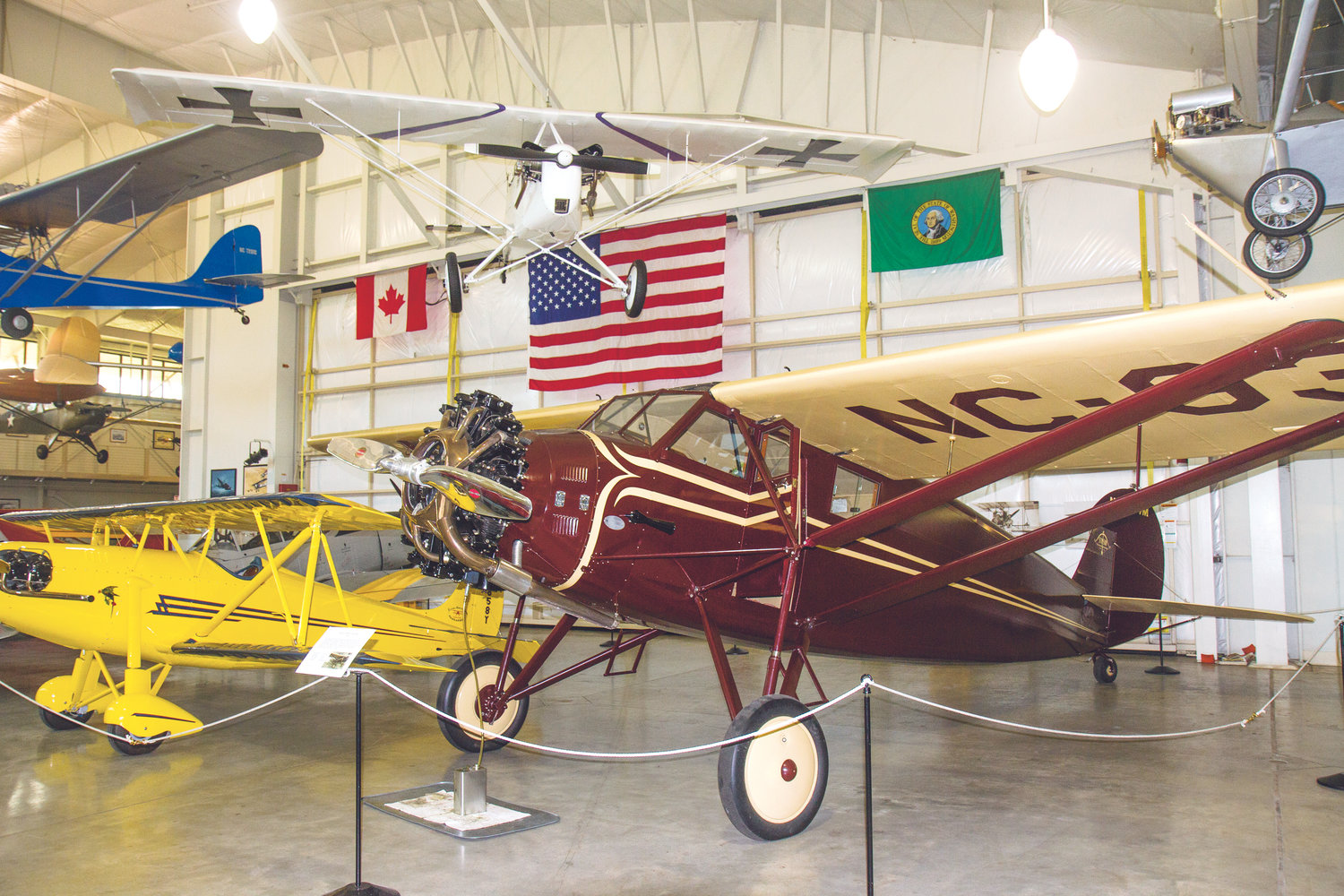 The Port Townsend Aero Museum currently has more than 20 restored aircraft on display in the main hangar of the $3.5 million facility, which was built in the summer of 2008.