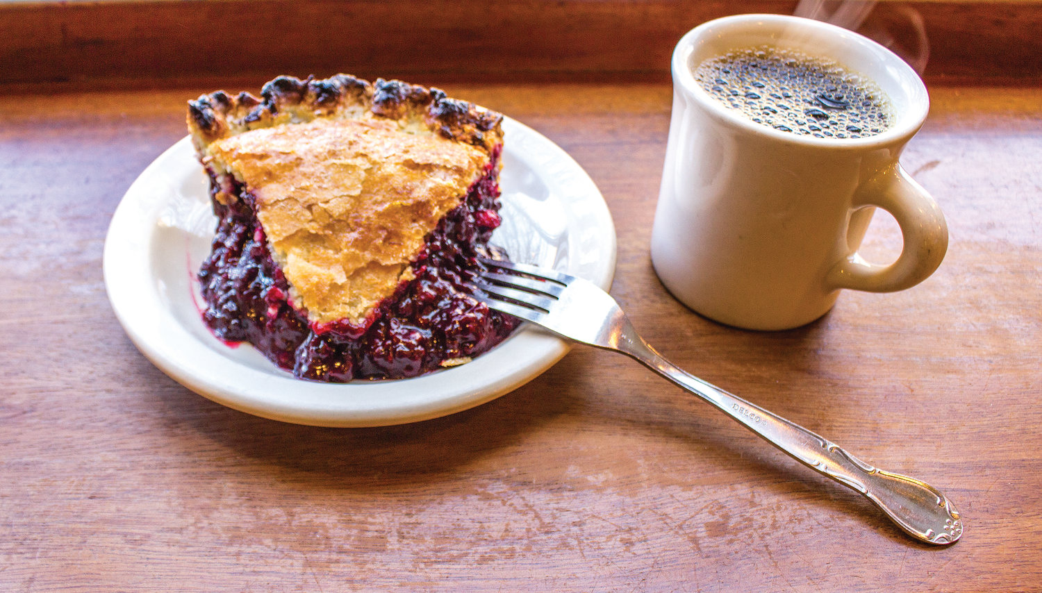 This marionberry pie is a customer favorite, and flies off the shelf. Roth insists the best pairing is coffee, and perhaps a little ice cream.