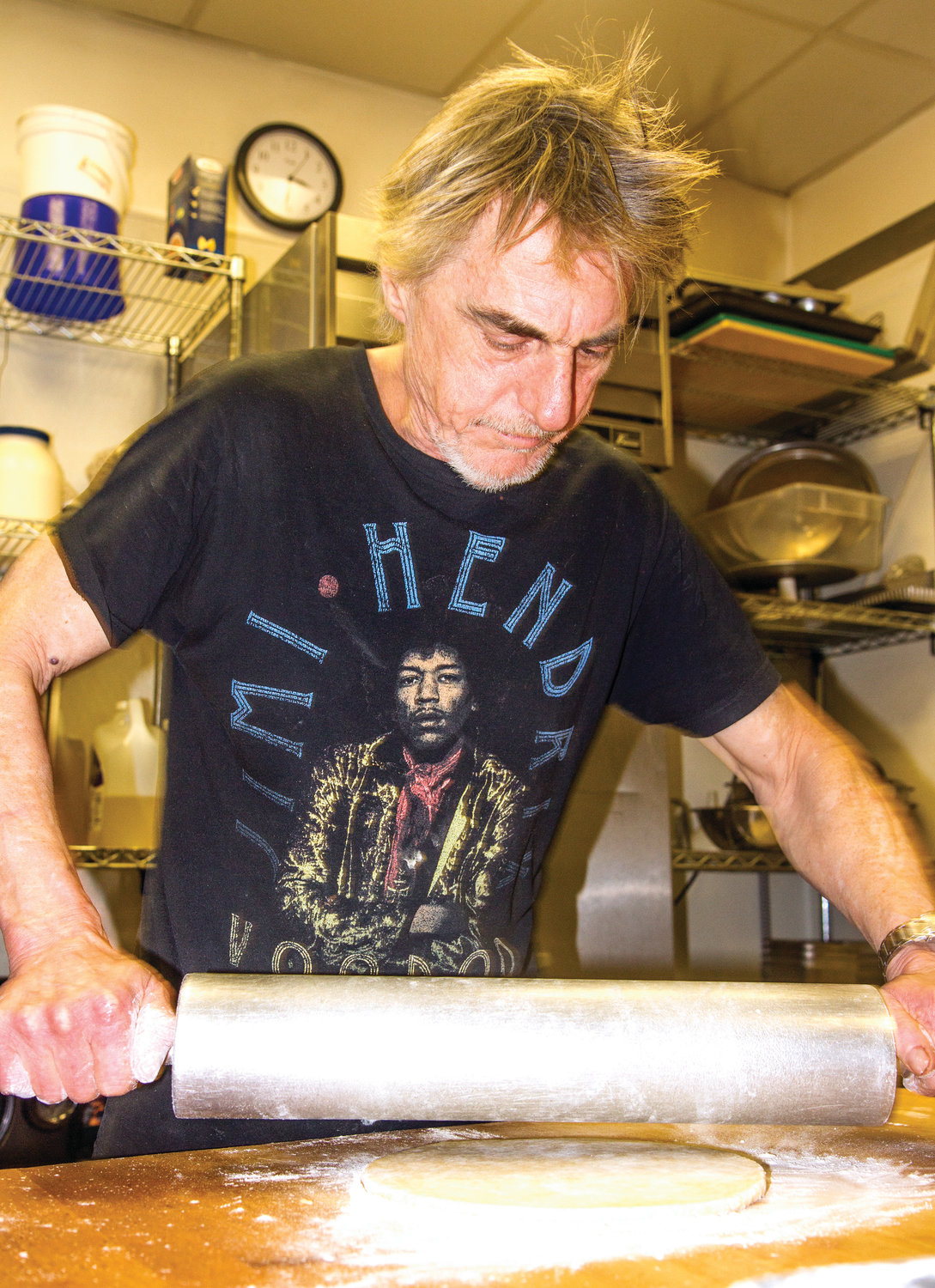 Tim Roth, owner of Hillbottom Pie, insists on making his pies fresh for customers each day.