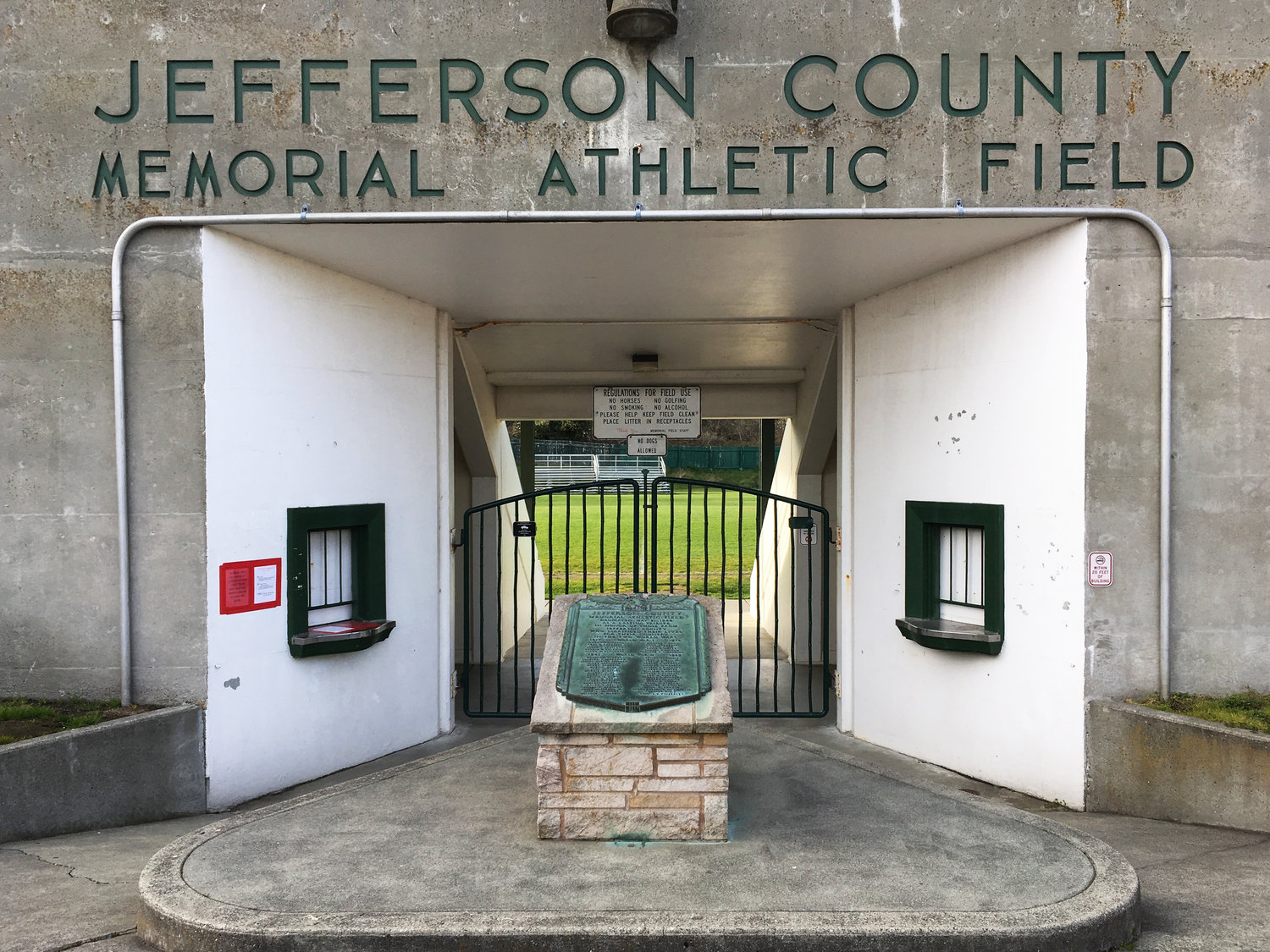 The Jefferson County Parks and Recreation is planning to reinstall the Memorial Field plaque, which was returned to Port Townsend Police Department on May 23. Parks and Recreation Director Matt Tyler said they are planning to reinstall the plaque with more security to prevent it from getting stolen again.