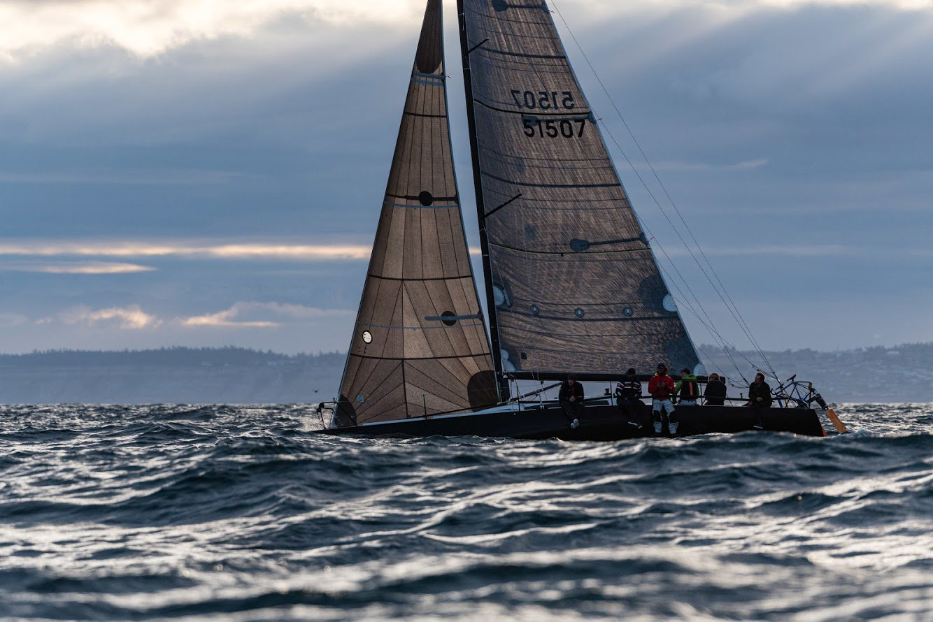 Skippered by Matt Pistay of Port Ludlow, Team Angry Beaver hit Ketchikan about 3:56 Pacific Time June 10, winning the 2019 Race to Alaska in a monohull Schock 40. Crewing the Skiff Sailing Foundation boat were Gavin Bracket, Brent Campbell, Alan Johnson, Mats Elf and Simon Mile.