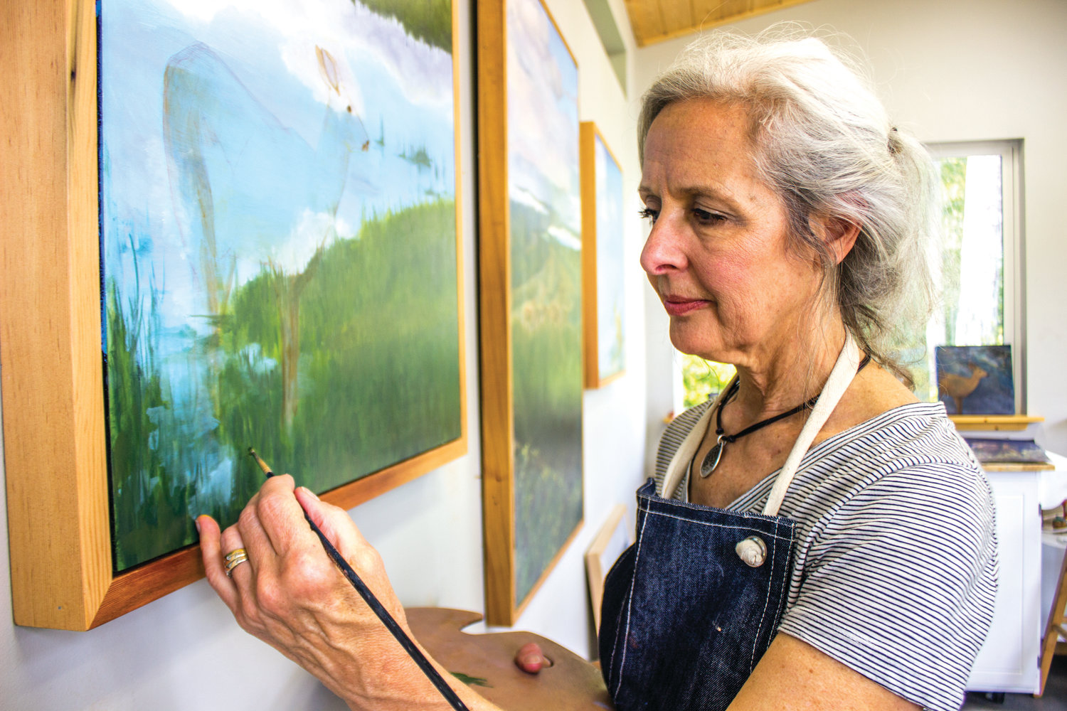 When she is painting or drawing, Kate Flores says she is never in a rush.