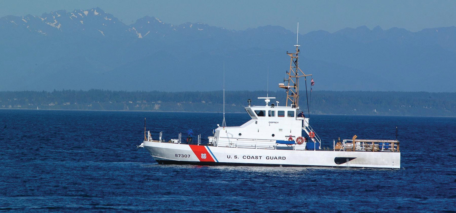 The 87-foot coastal patrol boat, the Osprey, was the first of its kind to come to the pacific region in 1999. It's served its entire commission with the Coast Guard stationed in Port Townsend. It can hold an 11-person crew and is used mainly for search and rescue operations all over the pacific coast from Oregon to Alaska.