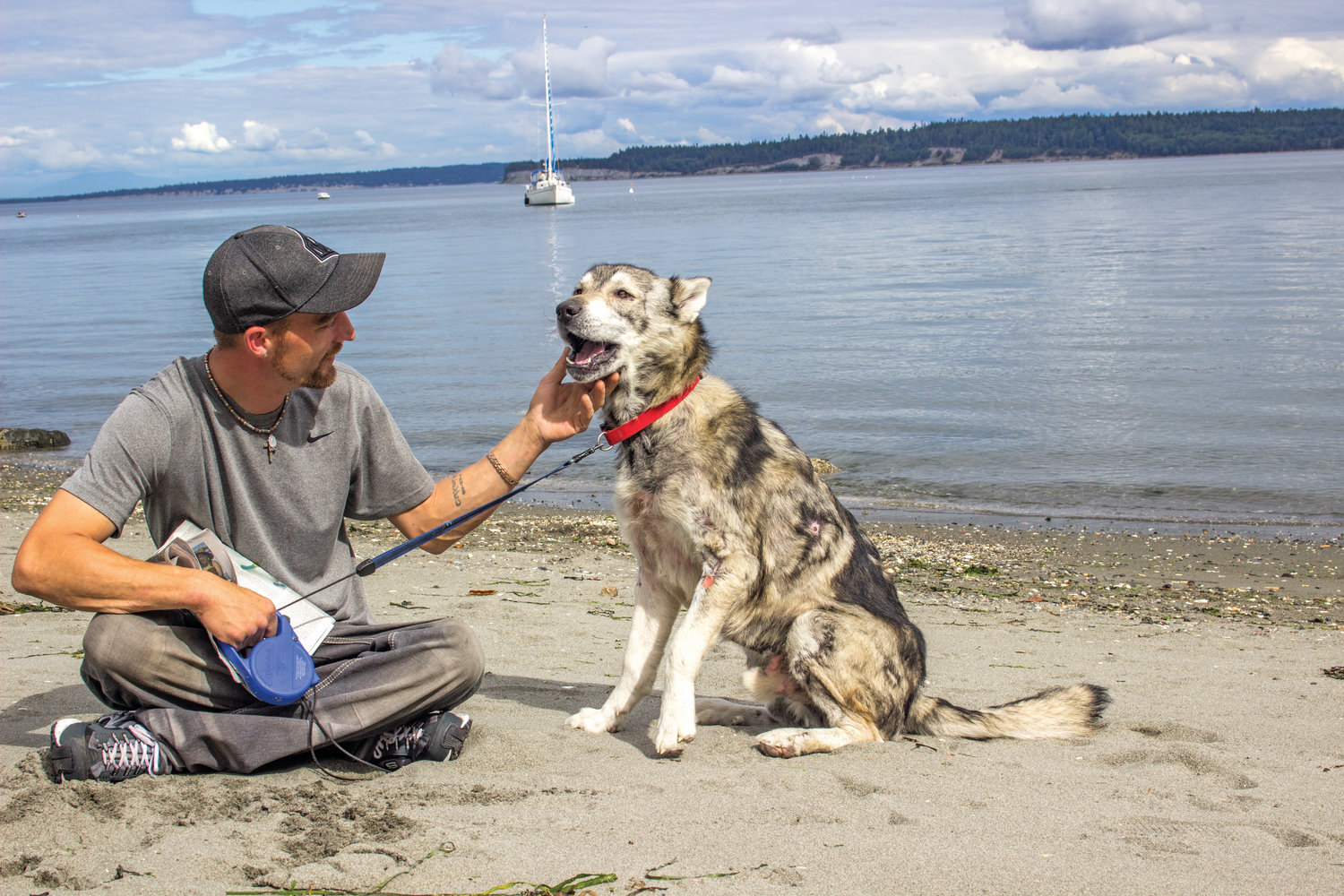 Michael Allmain and his dog Moses have been together four years. Allmain wanted to come forward after The Leader's June 10 article about Moses to tell his side of the story.