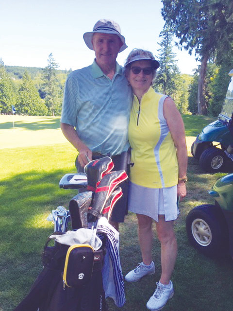 Port Ludlow Golf Club Champions Shelley Washburn and Lucinda Thompson are all smiles after their victories.
