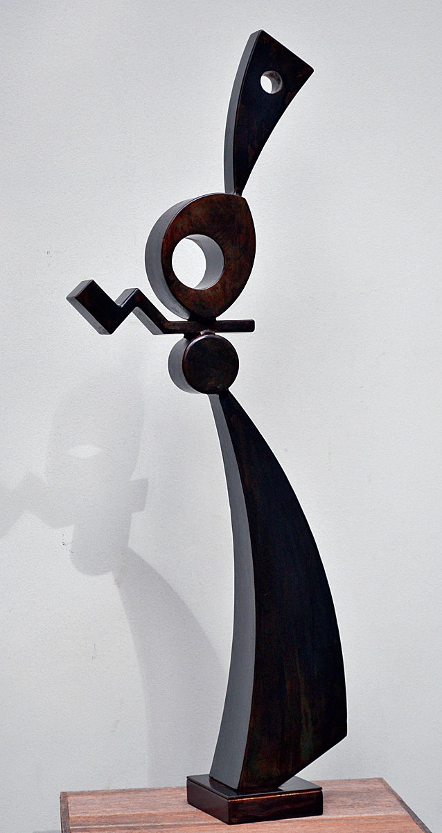 "Kim Simonelli's welded steel sculpture, ""Cool Jazz,"" the only Jefferson County award recipient in the 2020 Collective Visions Gallery Show in January."