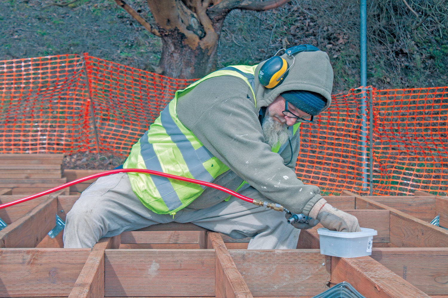 "The Fort Worden Public Development Authority's ""glamping"" construction project remains on schedule at this time, in spite of the fort's temporary reduction of staffing and services."