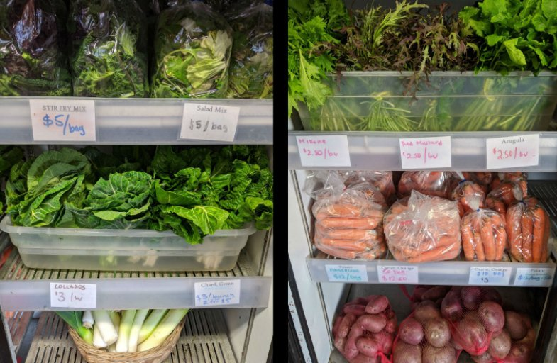 Red Dog Farm offers an alternative to going to a busy grocery store: stop by the farmstand for fresh produce.