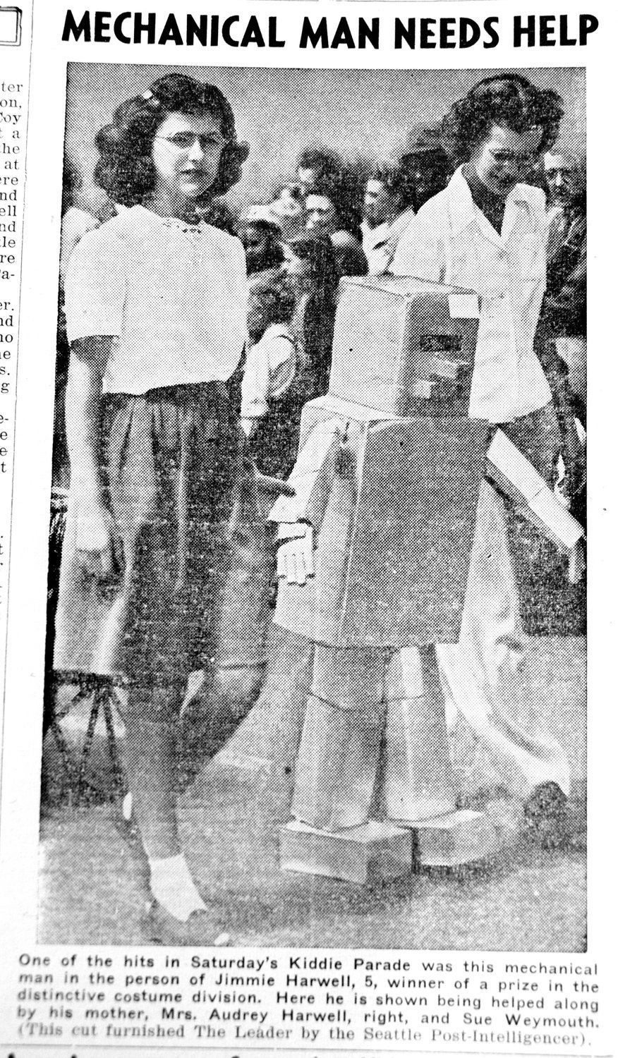 This was one of the only photos of the Rhododendron Festival 1946, which was the first one after the festival was put on hold for WWII. 