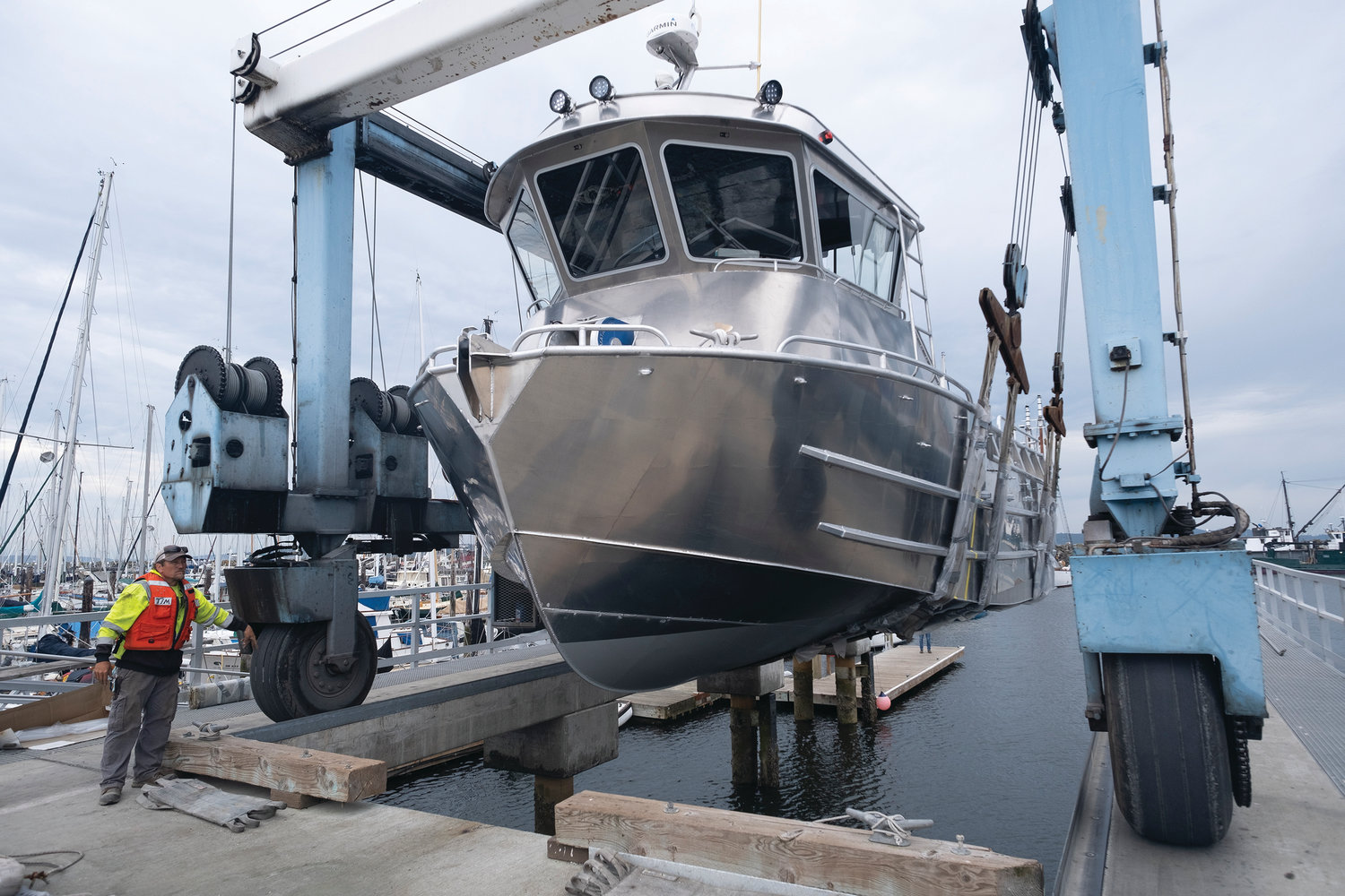 Construction on this new fishing boat began last fall at ACI Boats, and it was launched last week in the midst of the coronavirus pandemic. The vessel is heading north to Bristol Bay for the summer fishing season.