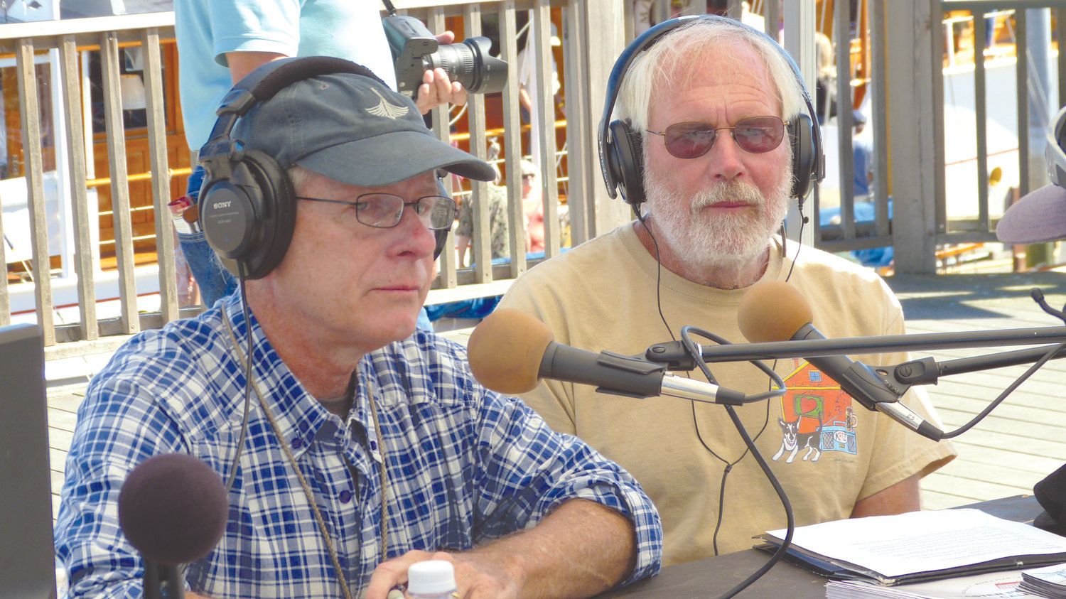 Phil Andrus shared the mic with Peter Guerrero to broadcast from the Wooden Boat Festival in 2015.