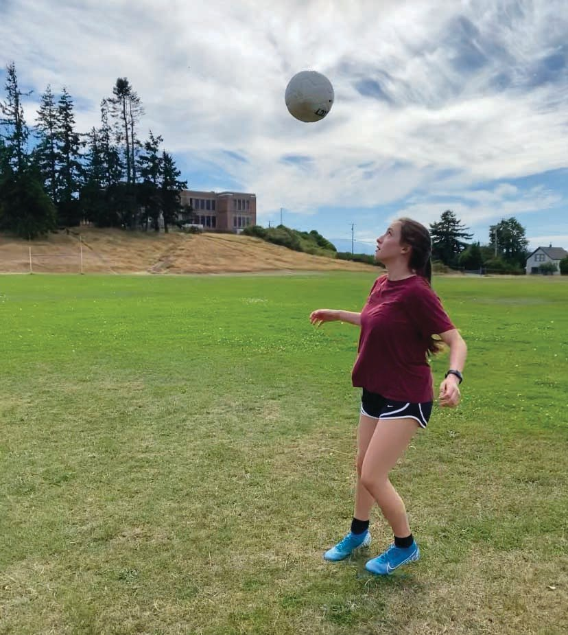PTHS senior Sorina Johnston has created a solo workout plan to keep her in shape until her basketball season starts in December. Her soccer season, originally set to start this week, was pushed to February.