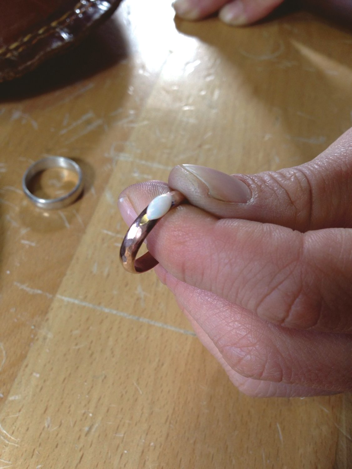 A finished ring.
