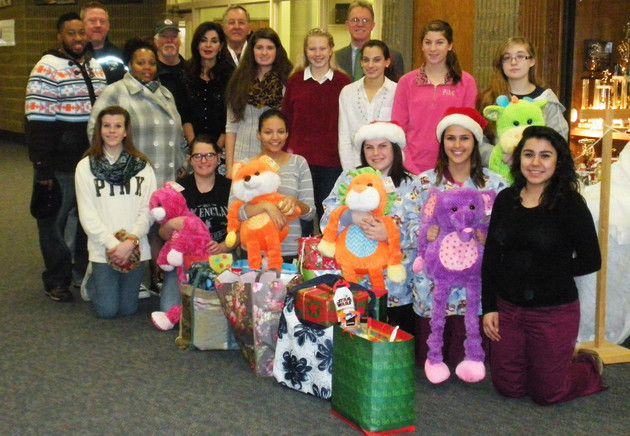 Tri-County staff and students met with representatives of Y.O.U., Inc. and The Santa Foundation on Friday, December 19, to turn in donated gifts collected during the school%u2019s annual Holiday Gift Drive.