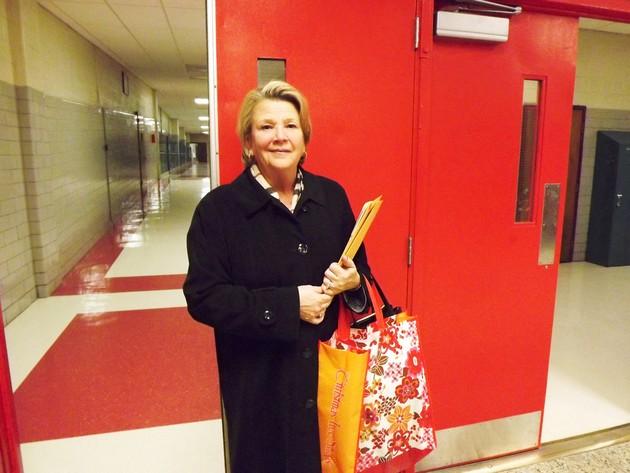Outgoing Superintendent of Schools Kim Mercer