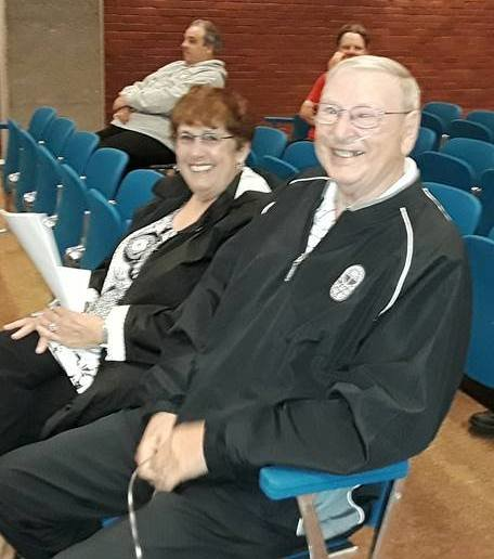 Robert and Barbara Amaral at City Hall chambers in 2019.