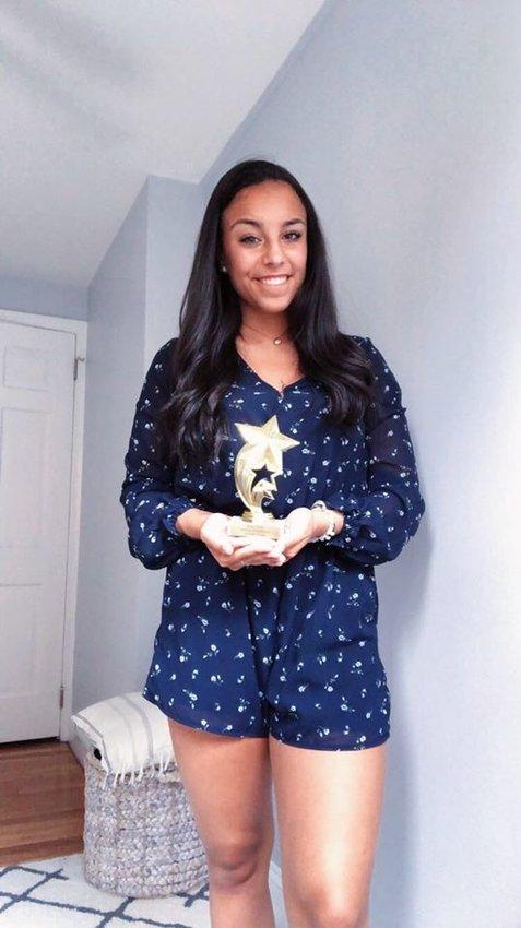 Haley Massa of EPHS. The RI Gymnastics Leadership Award.