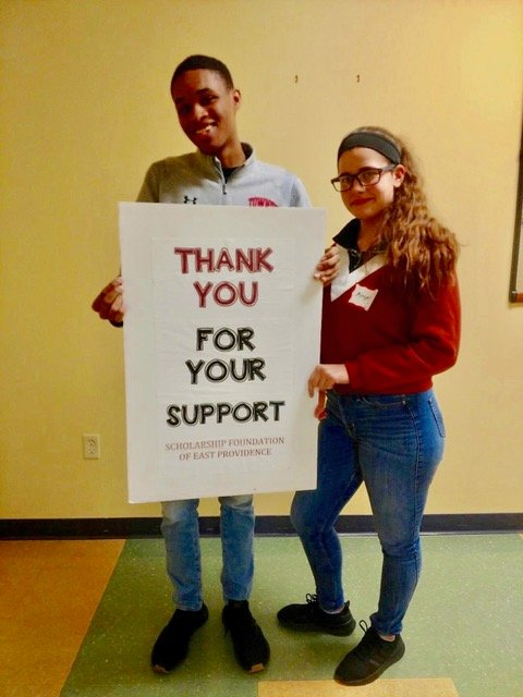 Among the 181 recipients of scholarships administered by Scholarship Foundation of East Providence are Zion Hall, a sophomore at Dean College, studying musical theatre and Angela Braga, a sophomore at Rhode Island College, majoring in nursing.