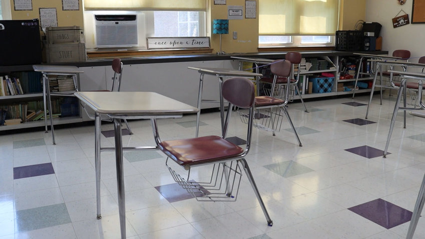 Seekonk Public Schools' classrooms will adhere to proper physical distancing guidelines. (Photo courtesy Seekonk Public Schools)