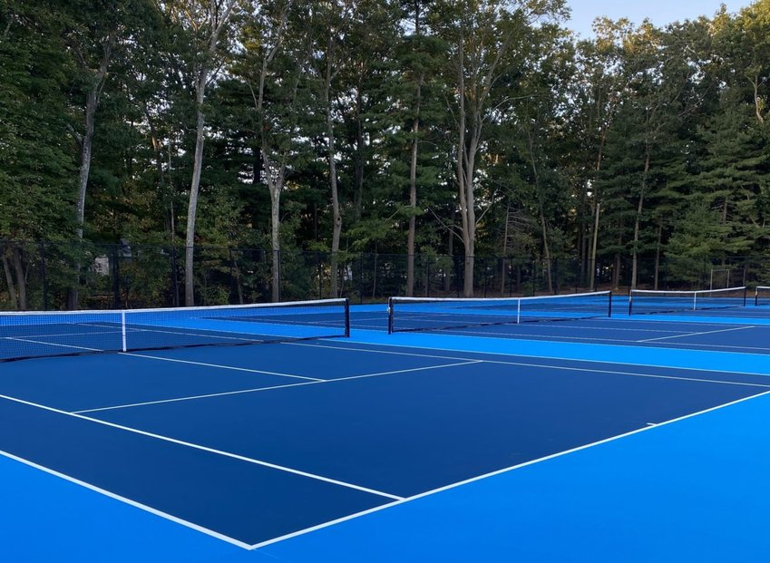 The newly-renovated tennis courts at Seekonk High School will open this week.