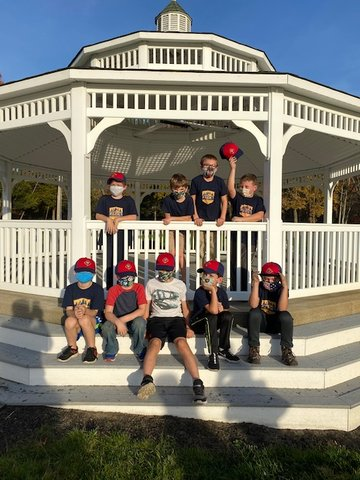 Cub Pack 1 finishes their project at the Veterans Memorial