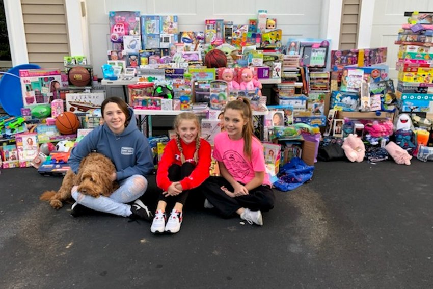 Kaylen, Marley and Kerrin McGovern have conducted a toy drive for each of the last three years.