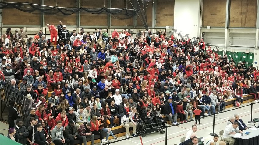 Townie nation turned out in big numbers  last season during the boys run toward a  state title. Only parents of seniors can  attend games this season
