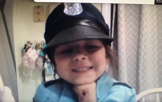 Maria is ready for Career Day.