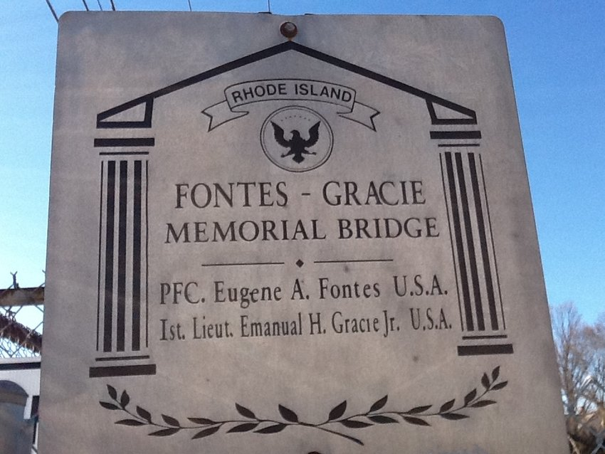 Lyon Ave. bridge memorial sign