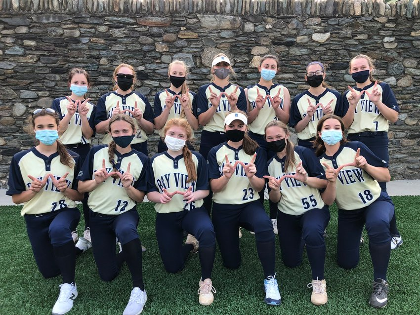 Undefeated Bay View softball team to date.