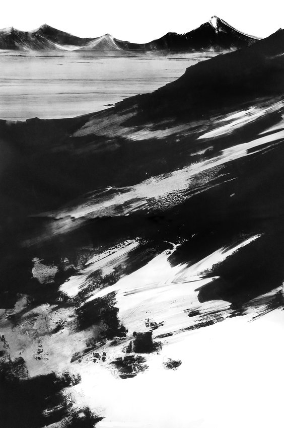 Iceland, monotype, 40 x 26 inches, 2003