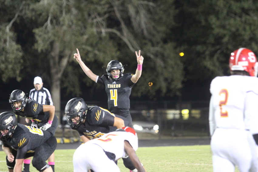 Junior quarterback Garrett Zaskoda led the offense to 36 points in the first half and finished the game with four touchdowns and no interceptions.