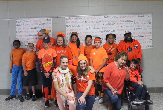 Sealy Junior High students celebrate Unity Day to raise awareness for anti-bullying.