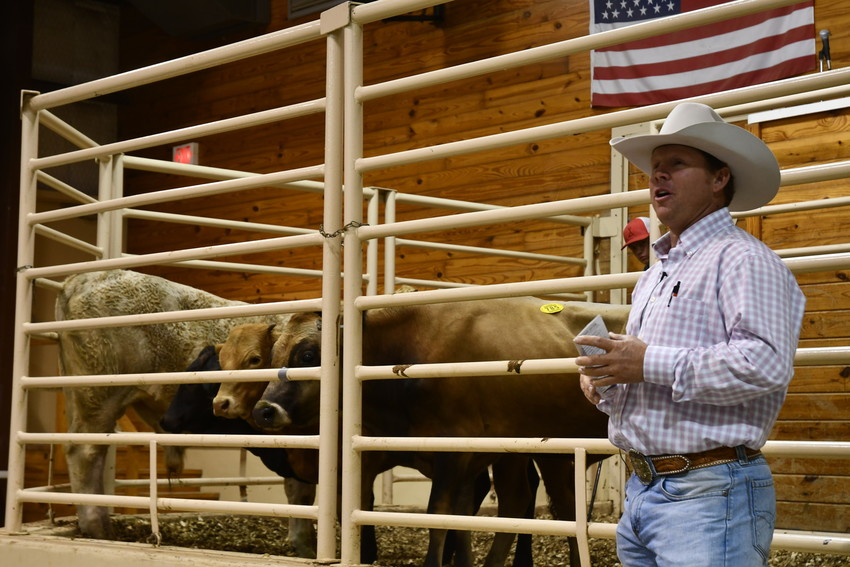 Cattle buyers Bubba Fritsch (pictured) and Dr. Larry Herd led a morning discussion on current market trends and producing a calf that fits the market.