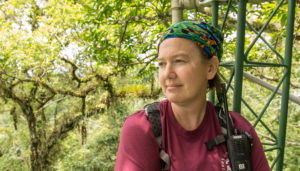 Dr. Georgianne Moore in Costa Rica where she studied transpiration of tropical trees in one of the wettest environments represented in the Nature paper.