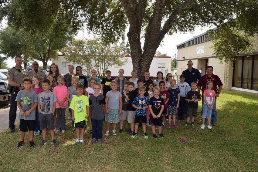 St. John Lutheran Church M.A.D. Club visits Austin County Sheriff's Office