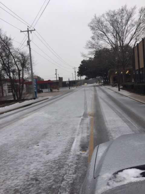 Roads throughout Austin County were frozen briefly on Tuesday and Wednesday, forcing local schools and businesses to close.