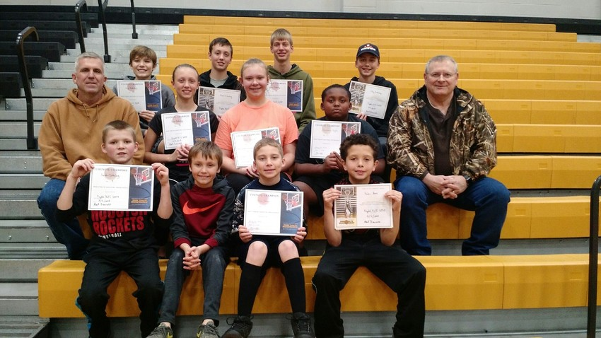 The Knights of Columbus had a dozen participants for their 2018 Free Throw Competition that took place on Feb. 11.