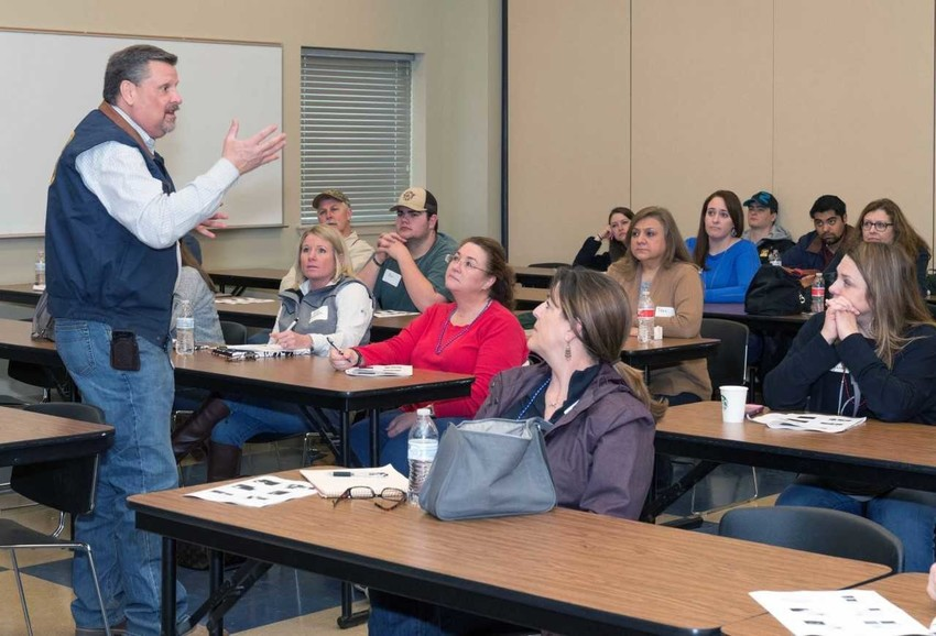 This is the second year that Blinn has hosted Education Day, designed to educate volunteers who will give tours and provide information to people who visit the AGVENTURE exhibits at the Houston Livestock Show and Rodeo.