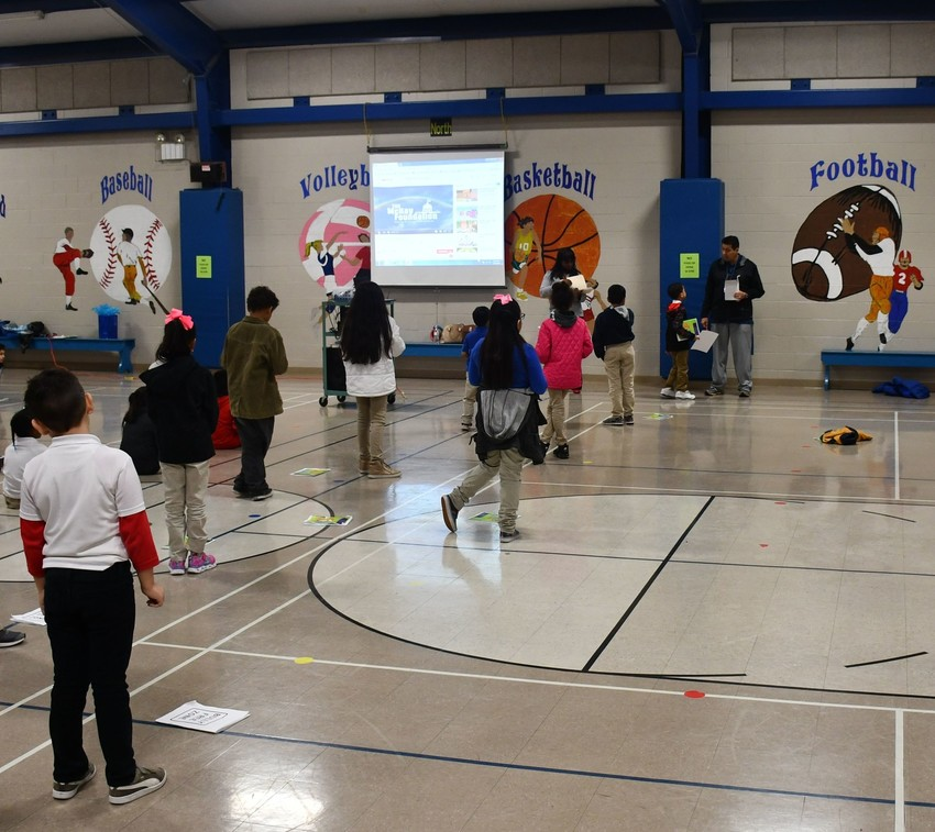 Students at Mildred Baskin Elementary School in San Antonio participate in the Take a Stand anti-bullying program.