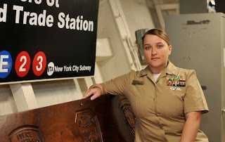 Sealy native Krystal Lumsford is serving in the U.S. Navy aboard a ship made from World Trade Center steel.