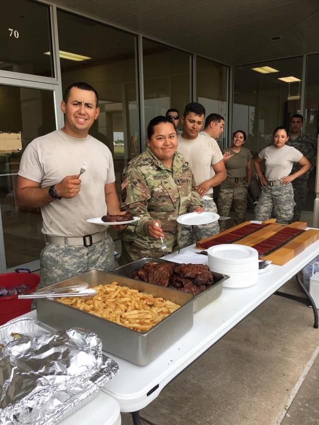 Tony's Family Restaurant serves troops