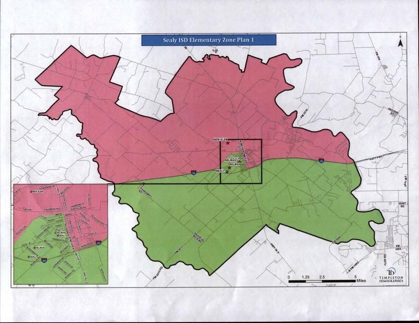 Elementary school zoning map
