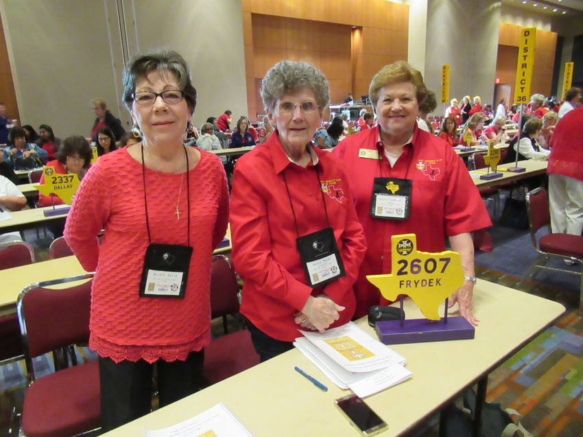Dottie Kutra, Betty Jo Mazac and Doris Sodolak attended the Texas State Convention of the Catholic Daughters of the Americas April 20-23, 2017.