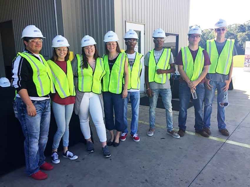 Sealy High School CTE students (from left to right): Donhavin Soza, Karissa Bond, Brittanie Ingram, Melissa Simms, Deion'ta Caston, Henry Brown, Logan Castillo and John Petty.
