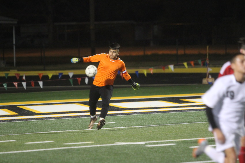 Keeper David Gomez only allowed one goal in penalty kicks against Bellville to help the Tigers win their final district match of the season.