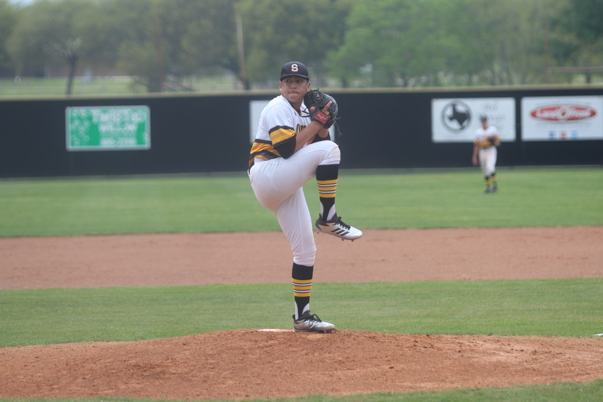 Senior Devin Aguado led the Tigers to their first district win of the season over Columbus after shutting the Cardinals out for the final four innings of the game.