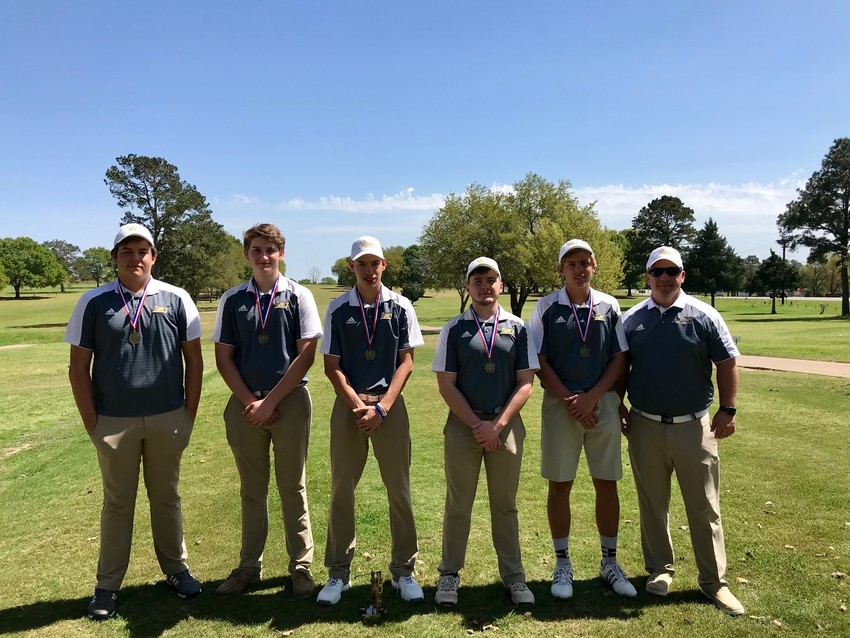 Golf 1: Head Coach Cody Carruthers said the boys' golf team's growing connection with each other has helped form a family-like bond among the players and is a large reason for the team's success this season.