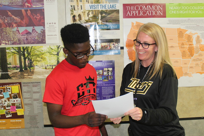Sealy High principal Megan Oliver will work closely with the director of the college and career center that will open next school year to help students prepare for life after high school.