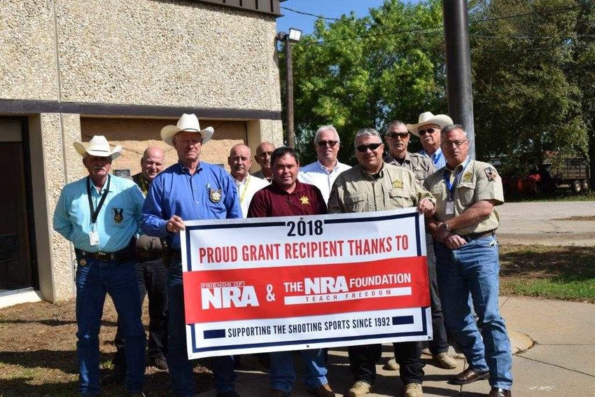 The NRA Foundation recently provided a grant to the Austin County Sheriff's Office that will cover costs of practice ammunition for deputies. Pictured from left are Lt. John Janicek, Investigator Michael Doerrig, Sheriff Jack Brandes, Investigator Brad Murray, Captain Al Cordeiro, Sergeant Lance Johnson, Investigator Buddy Riddle, Sergeant Nathan Hale, Corporal Damon Hagen, Chief Deputy Richard Holloman and Deputy Grant Writer Donald Darracq.